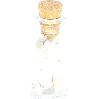 Flesje met howliet steentjes