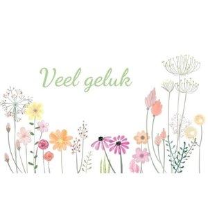 Klein kaartje Veel geluk me envelopje | eenbeetjegeluk.nl
