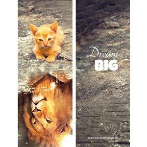 Boekenlegger 'Dream Big' met kitten   eenbeetjegeluk.nl