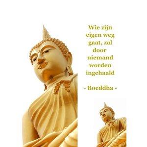 Boekenlegger Boeddha 'wie zijn eigen weg gaat'| eenbeetjegeluk.nl
