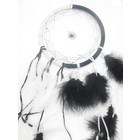 Zwart witte dromenvanger 25 cm doorsnee