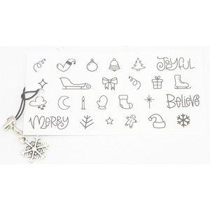 Kerst gelukskaartje met hangertje sneeuwvlok | eenbeetjegeluk.nl