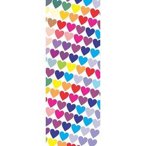 Boekenlegger gekleurde hartjes 15 x 5 cm | eenbeetjegeluk.nl