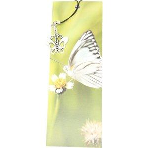Boekenlegger vlinder met bedeltje vlinder | eenbeetjegeluk.nl
