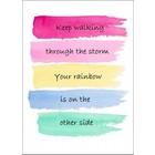 Kaart  'Keep walking through the rain' postkaart