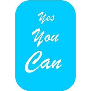 Postkaart met motiverende tekst 'Yes you can' | eenbeetjegeluk.nl