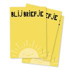 Notitieblokje A6 Blij Briefje in gele kleur