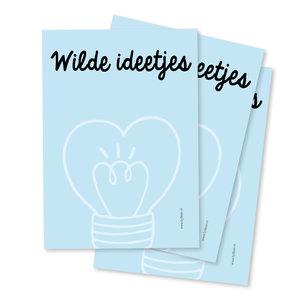 Notitieblokje Wilde ideetjes met 50 blaadjes in A6 formaat | eenbeetjegeluk.nl