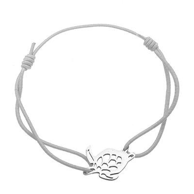 Armbandje met een  zilverkleurig schildpadje