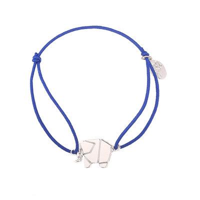 Blauw armbandje met olifant bedeltje