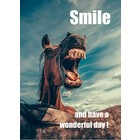 Kaart 'Smile and have a wonderful day'