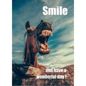 Kaart 'Smile and have a wonderful day' | eenbeetjegelu.nl