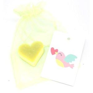Zakje met hartjes zeepje en vogeltjes kaartje | eenbeetjegeluk.nl