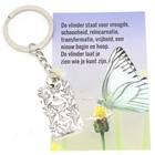 Sleutelhanger vlinder met kaartje
