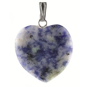 Lapis Lazuli hanger hartje | eenbeetjegeluk.nl