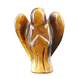 Hanger tijgeroog engeltje 2 cm