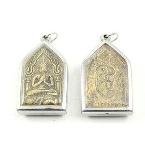 Thais amulet in geel zandsteen