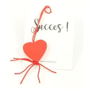 Kaartje succes met hartje