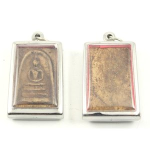 Vierkant boeddha amulet