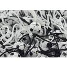 Gelukspoppetje voetbal zwart wit 1 cm