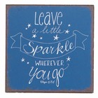 Vierkante magneet ' Leave a little sparkle'