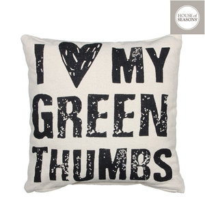 House of Seasons 1003104 Cushion Green Thumbs