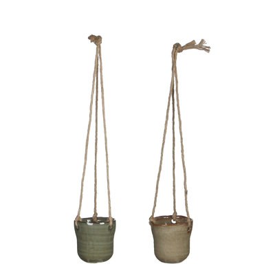 MiCa 1022489 Hanging pot Stef green taupe