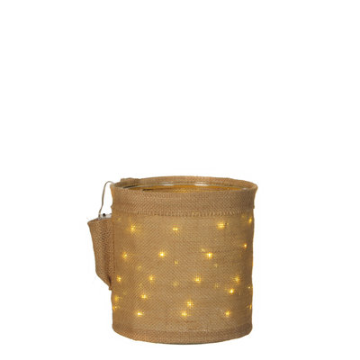 MiCa 1032296 Deco pot brown with lightning