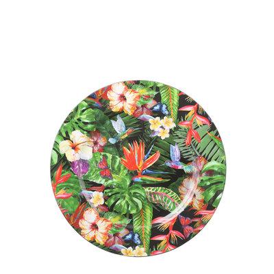 MiCa 1073585 Decoratie bord bloemen rood