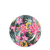 MiCa 1073586 Decoratie bord bloemen roze