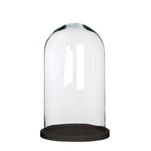 MiCa 1070567 Hella bell jar glass on plate black