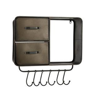 MiCa 1064327 Wall rack brown