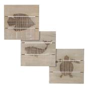 MiCa 1058088 Muurdecoratie dier grijs