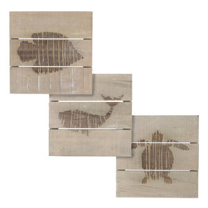 MiCa 1058088 Wall decoration animal gray