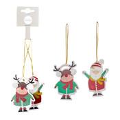 MiCa 1048752 Ornament kerstman hert