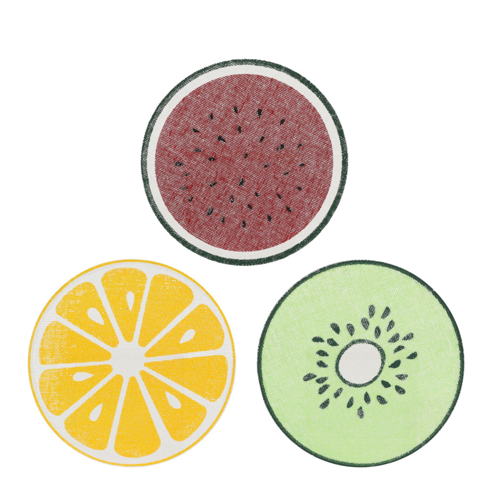 MiCa 1053917 Place mat red yellow green 3 assorted