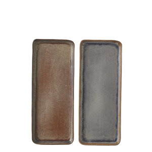 MiCa 1047454 Eva plate taupe blue