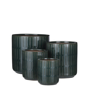 Mica Decorations Lars pot round d.green set of 4