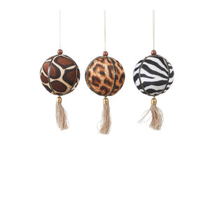 House of Seasons Ornament bruin zebra tijger giraffe 3 assorti