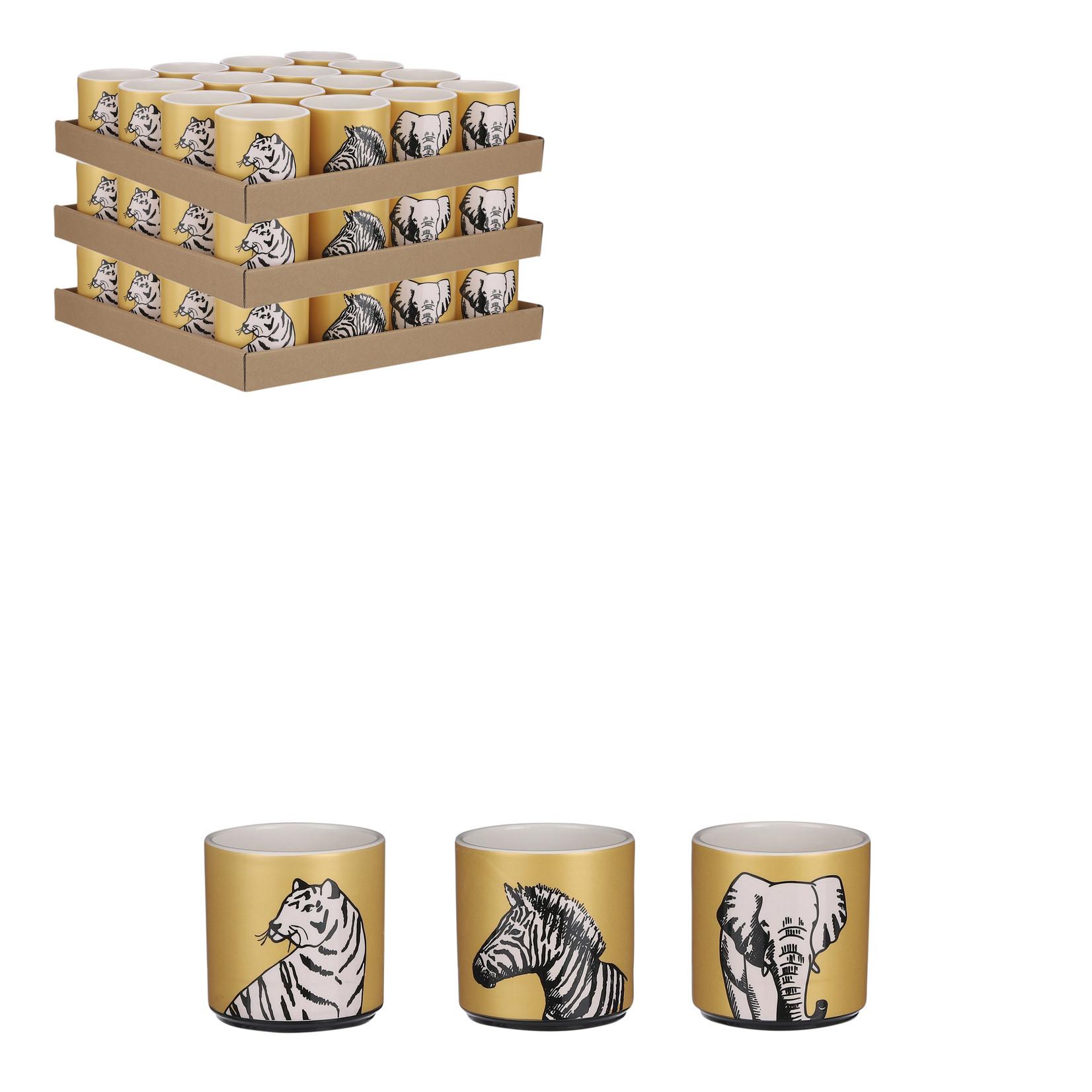 House of Seasons Pot dier goud 3 assorti display