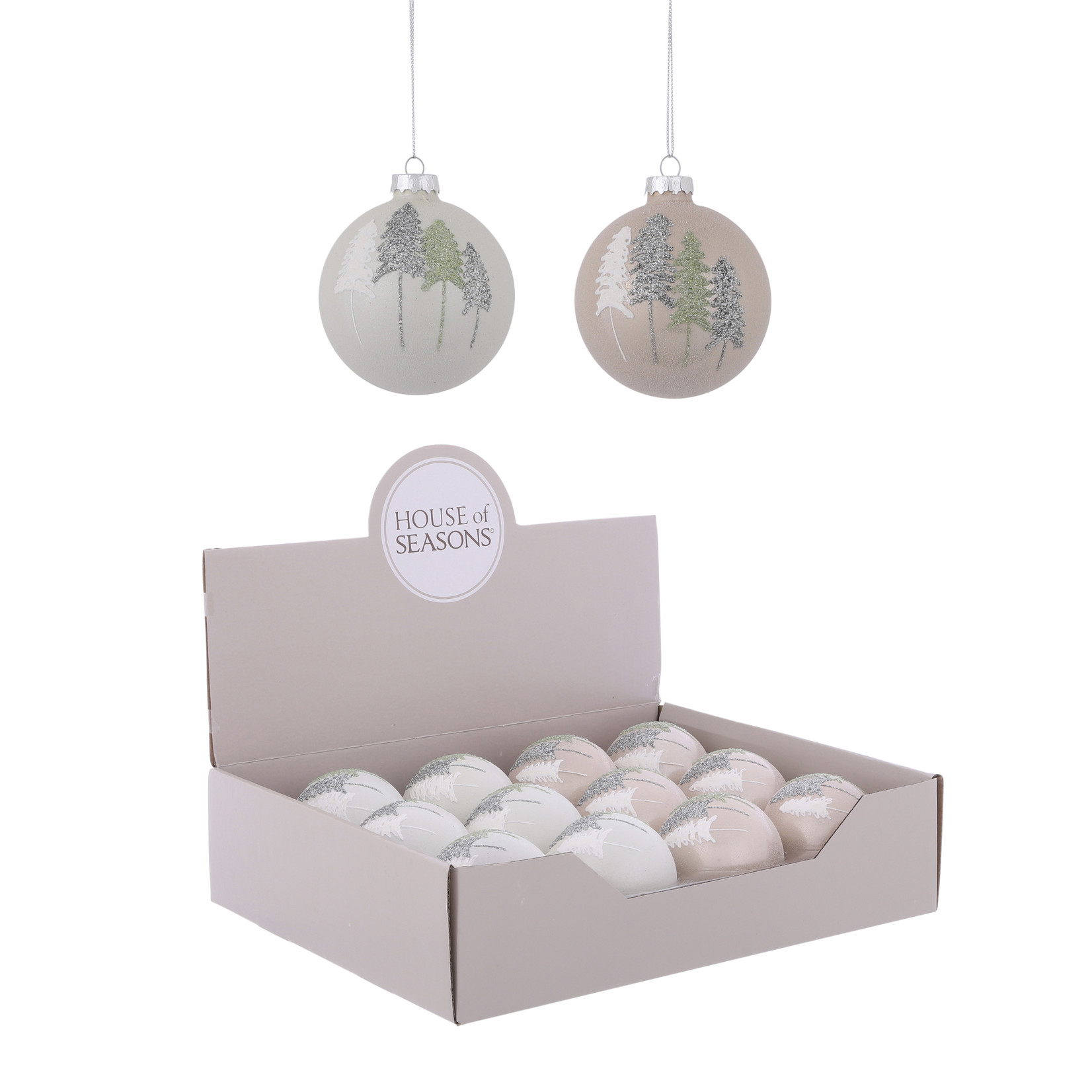 House of Seasons Ornament bal wit transparant