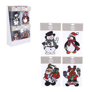 House of Seasons Window decoration christmas white red