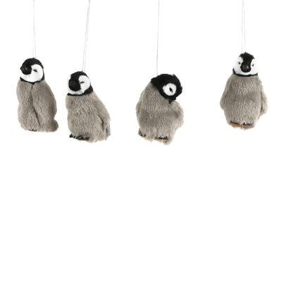 House of Seasons Ornament pinguin grijs