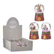 House of Seasons Waterglobe christmas red