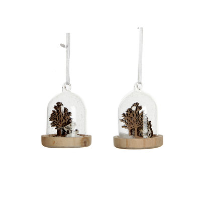 House of Seasons Ornament uil bruin wit