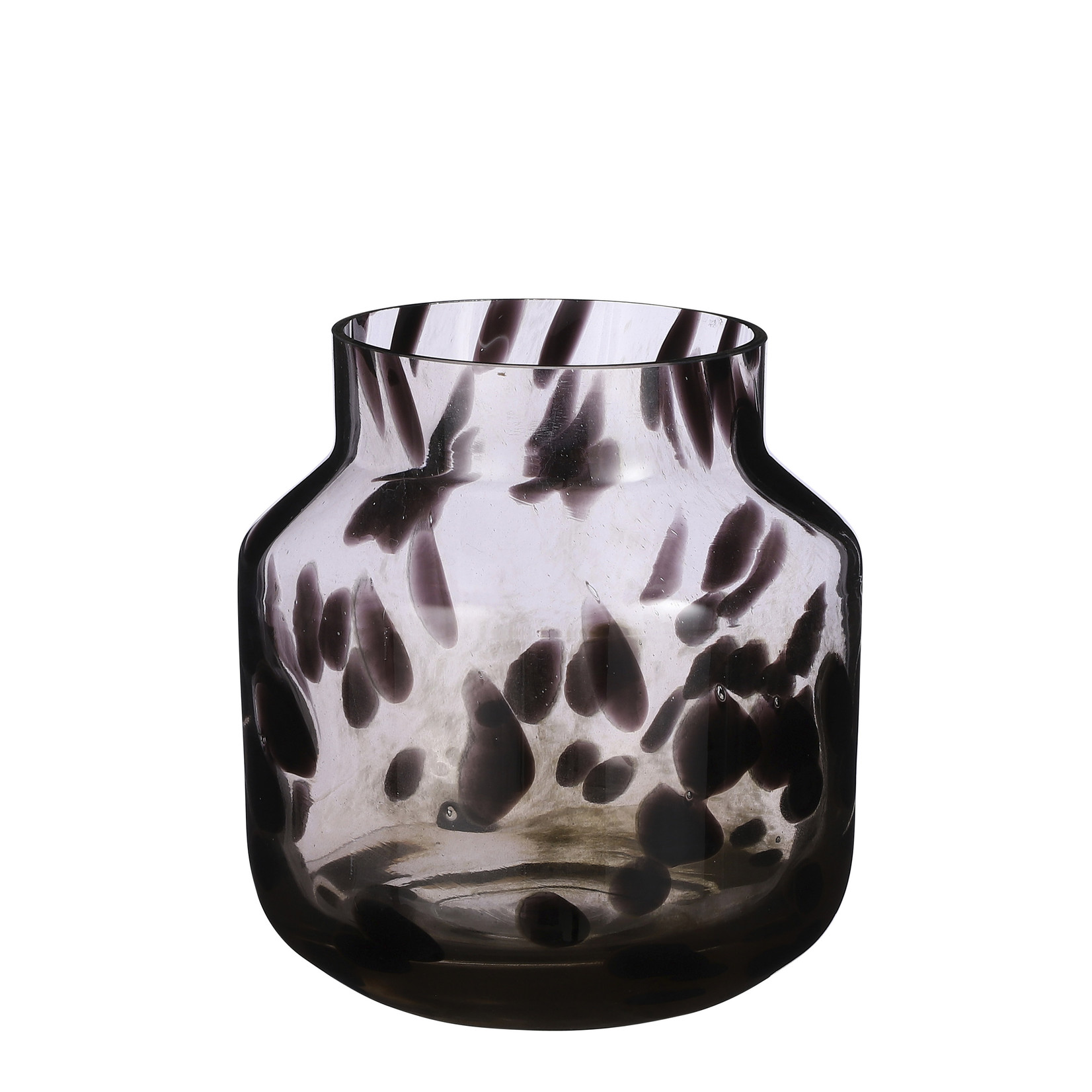Mica Decorations Pantera vaas glas bruin