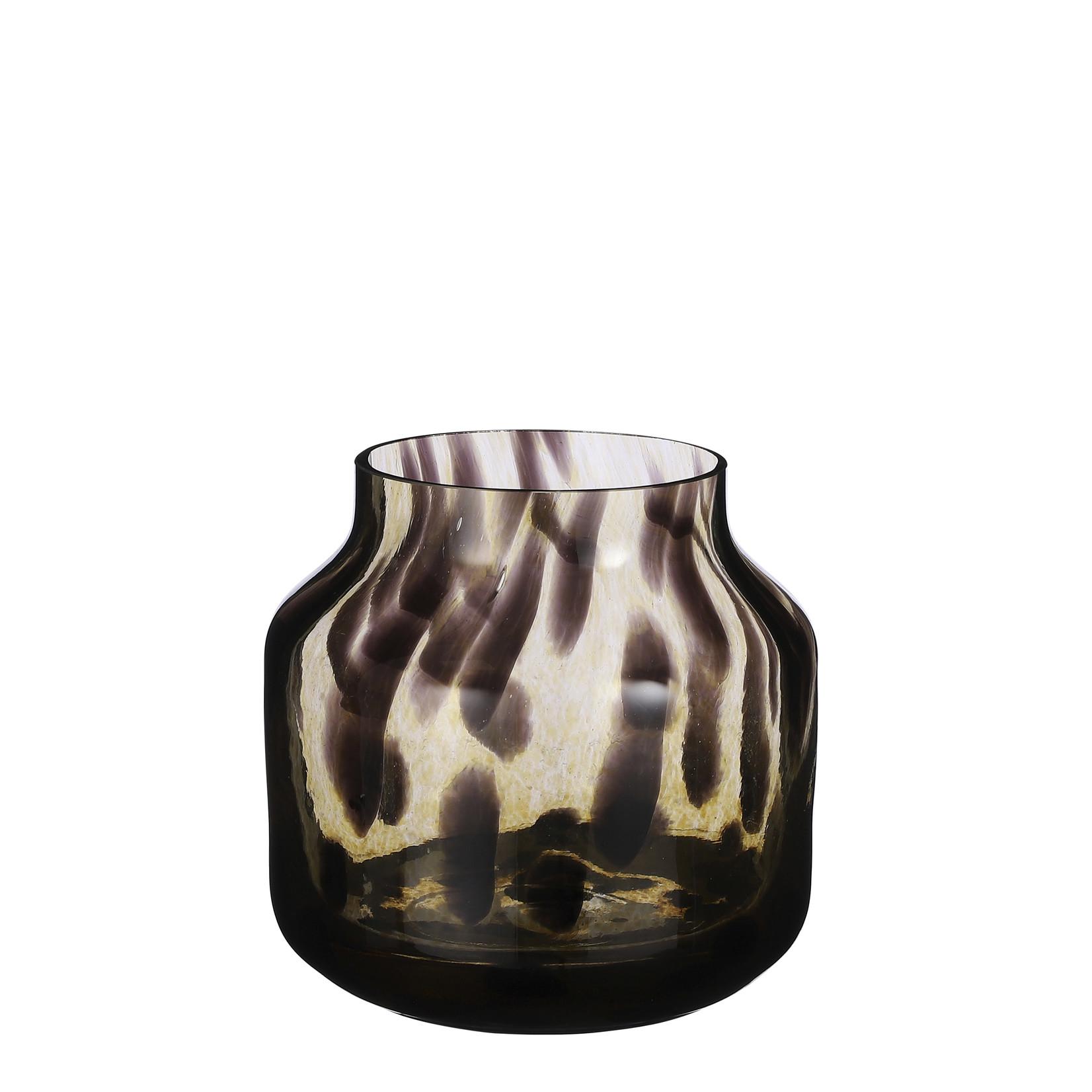 Mica Decorations Pantera vase glass brown
