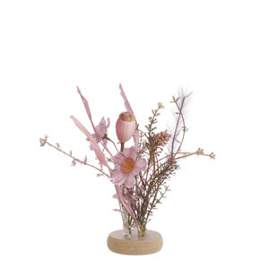 Mica Decorations Dried-look table piece mauve