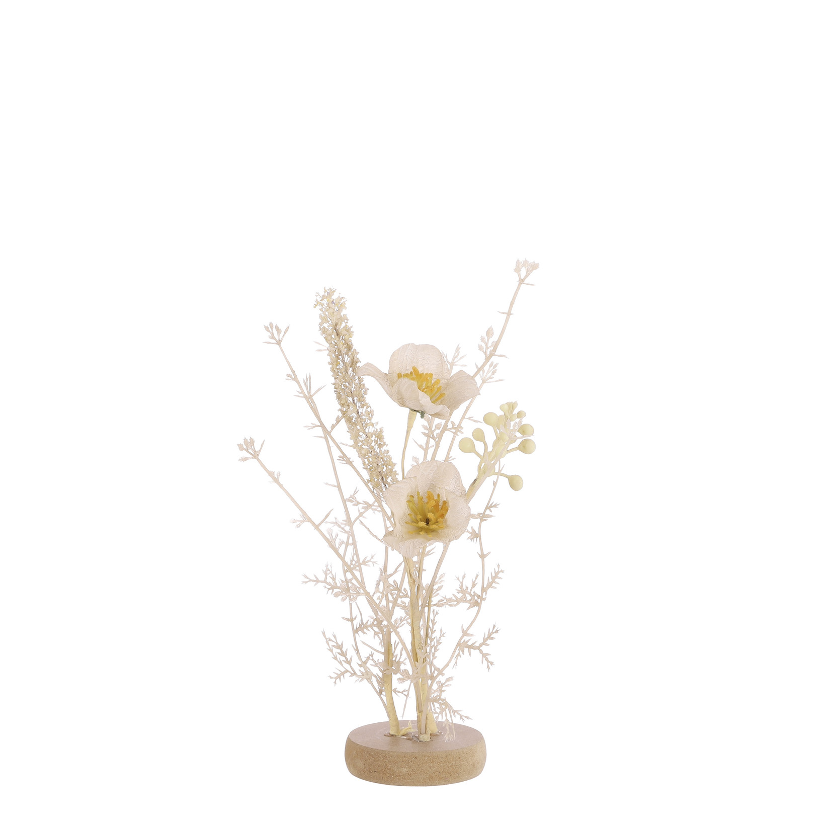 Mica Decorations Dried-look table piece beige
