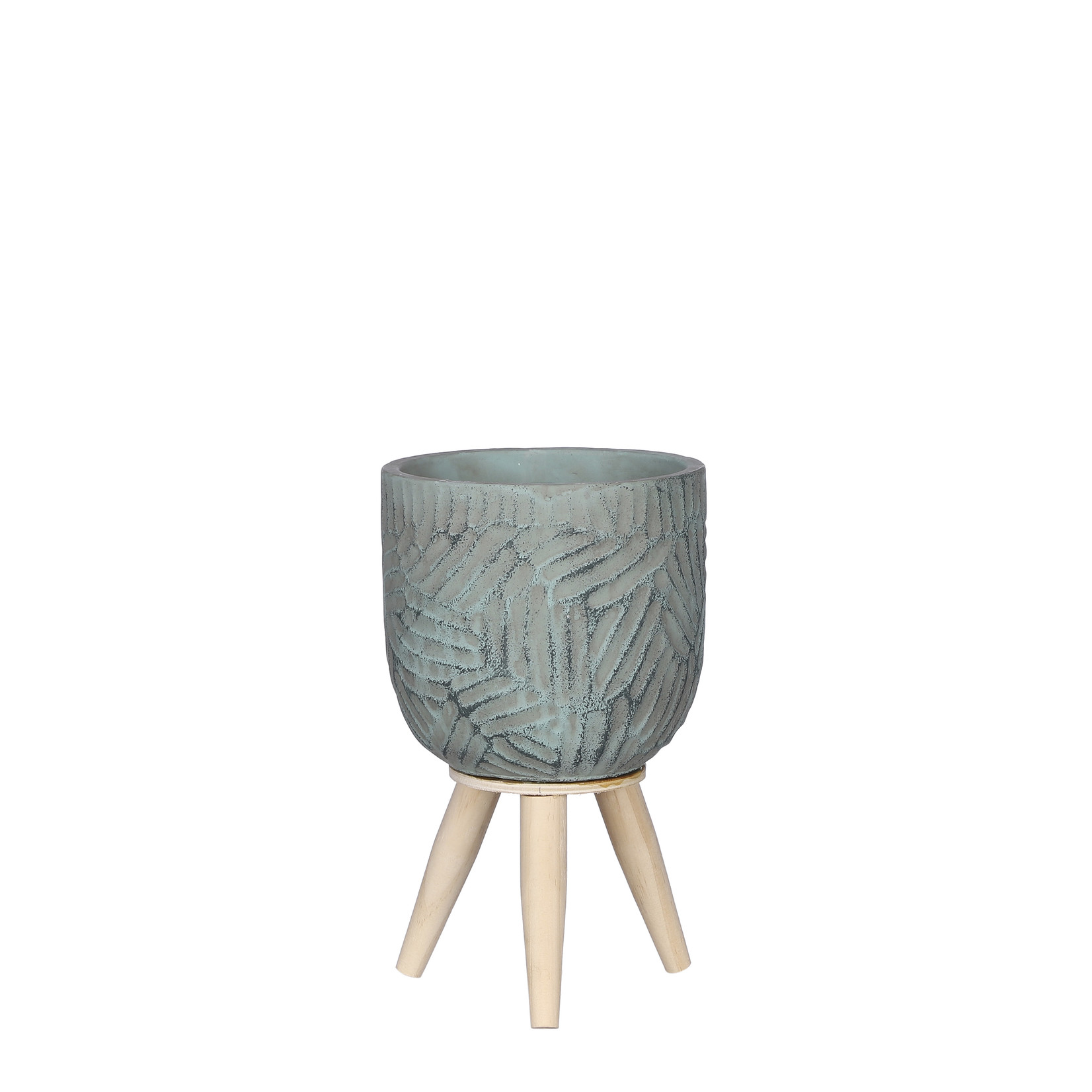 Mica Decorations Gaby pot on feet turquoise